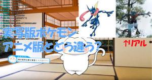 【実写版ポケモン】モンスター比較 とりさるモンの生放送!